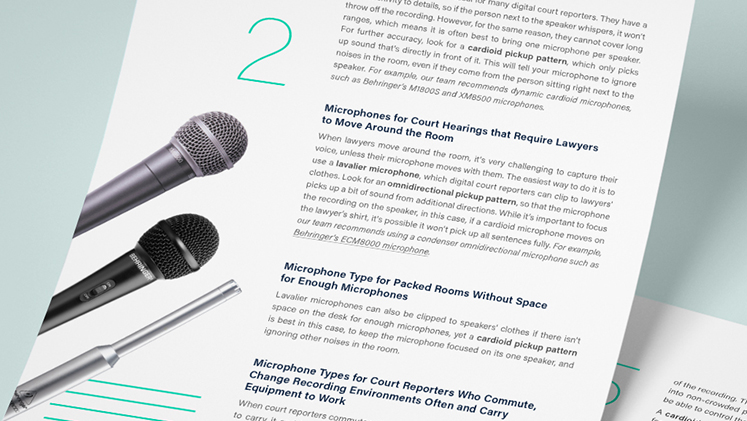 Digital Court Reporter's Guide to a High Quality Recording@2x