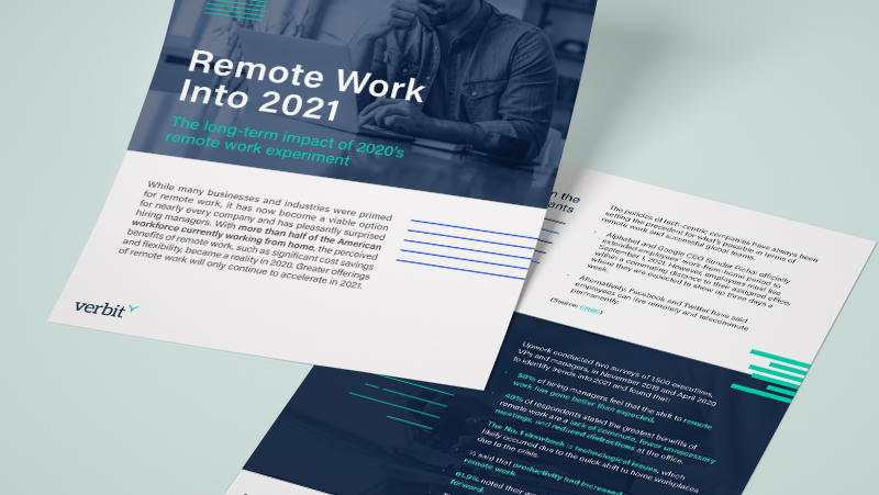 Remote Work Into 2021 Mockup