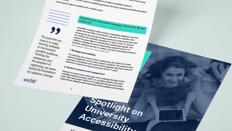 Verbit Spotlight University Accessibility_mockap